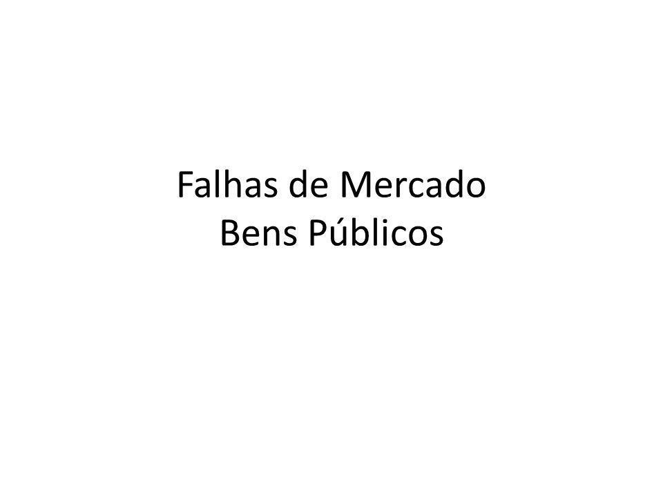 Falhas de Mercado Bens Públicos