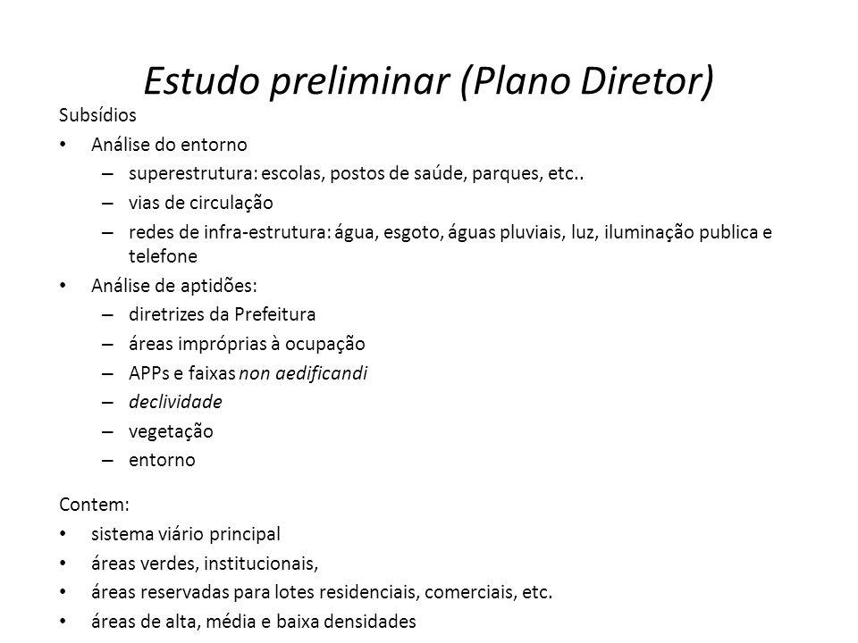 Estudo preliminar (Plano Diretor)