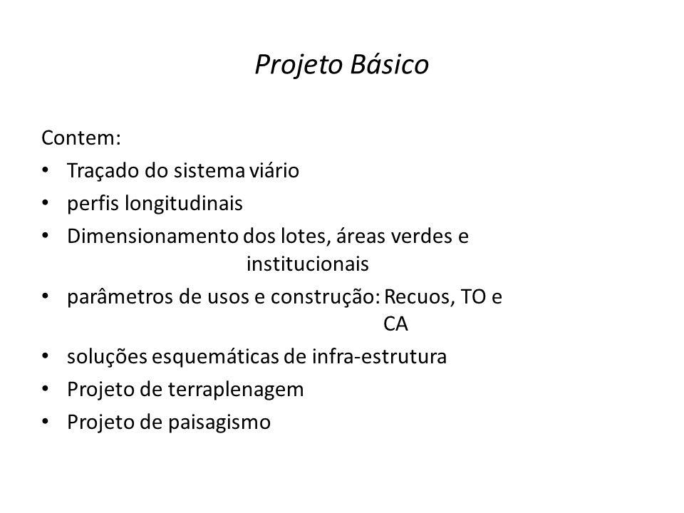 Projeto Básico Contem: Traçado do sistema viário perfis longitudinais