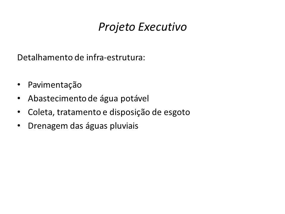 Projeto Executivo Detalhamento de infra-estrutura: Pavimentação
