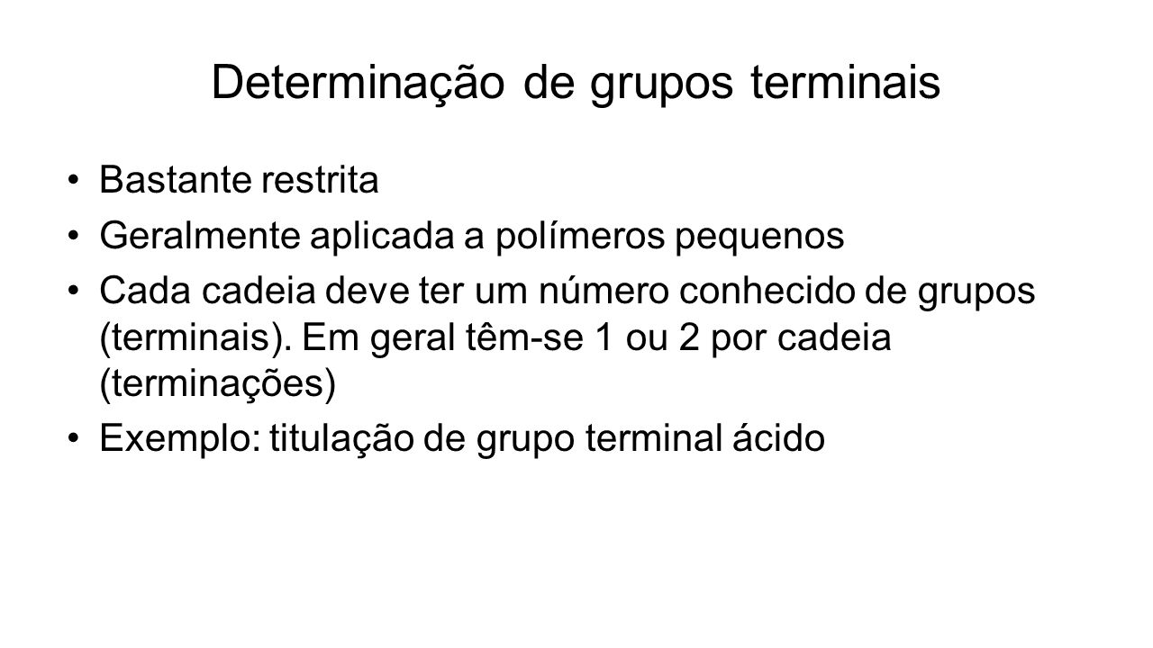 Determinação de grupos terminais