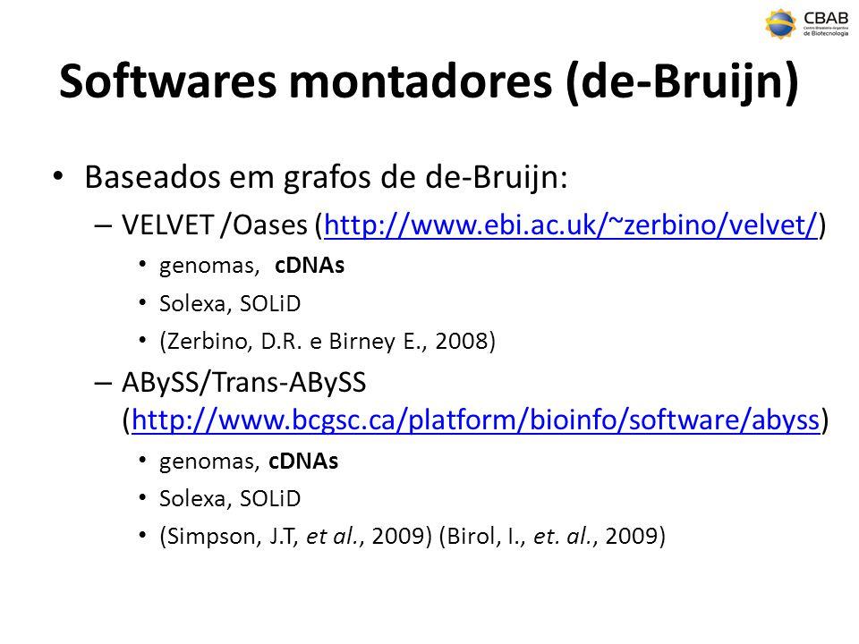 Softwares montadores (de-Bruijn)