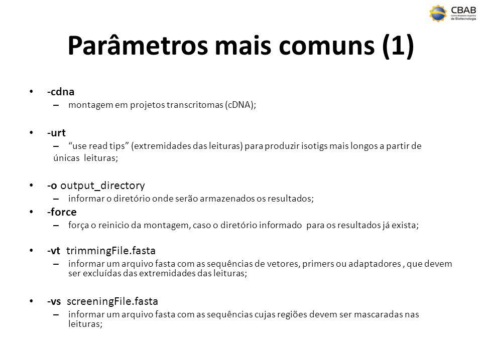 Parâmetros mais comuns (1)