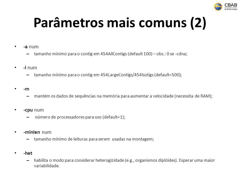 Parâmetros mais comuns (2)