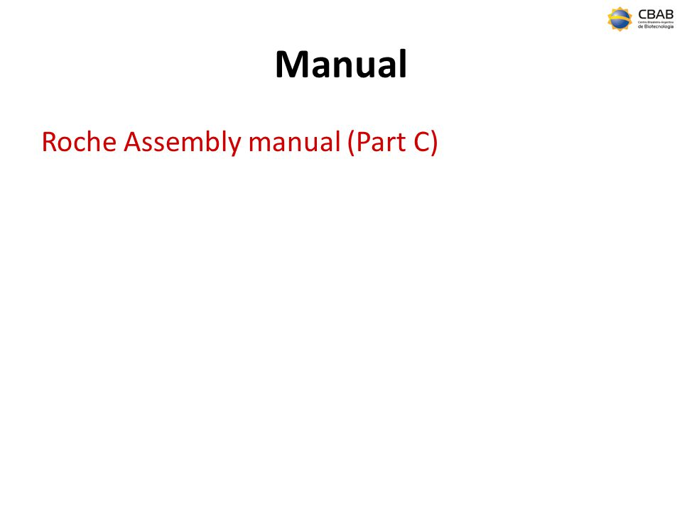 Manual Roche Assembly manual (Part C)