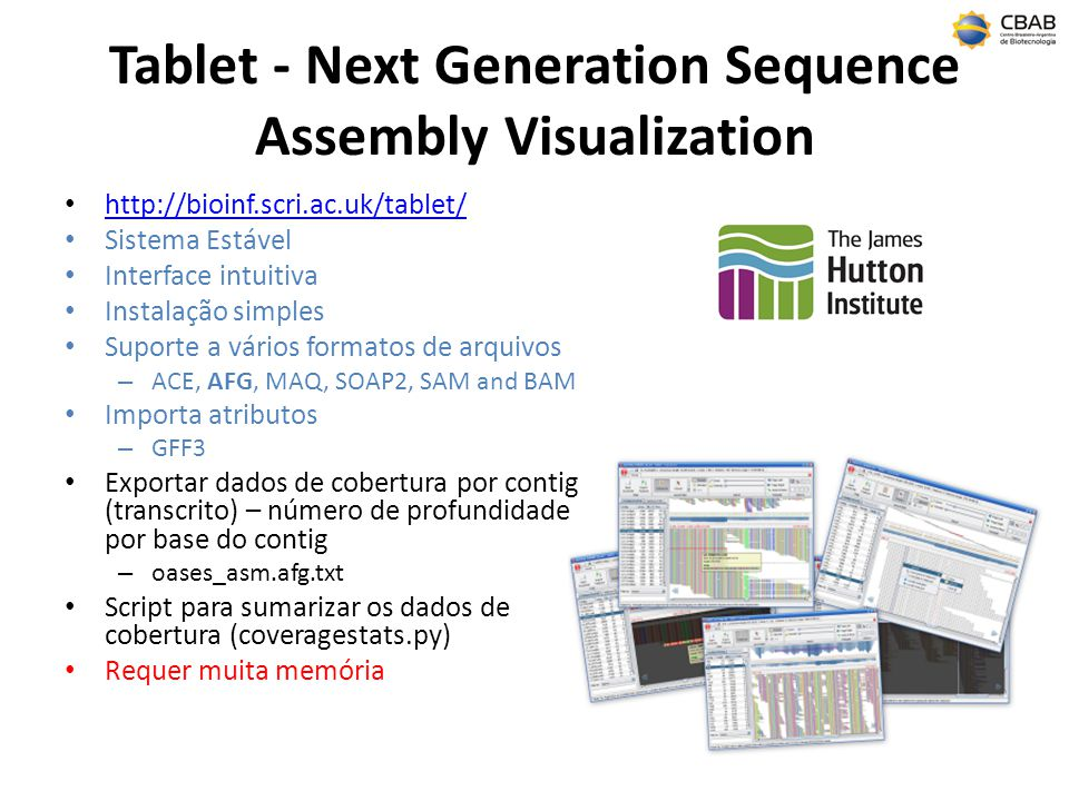 Tablet - Next Generation Sequence Assembly Visualization