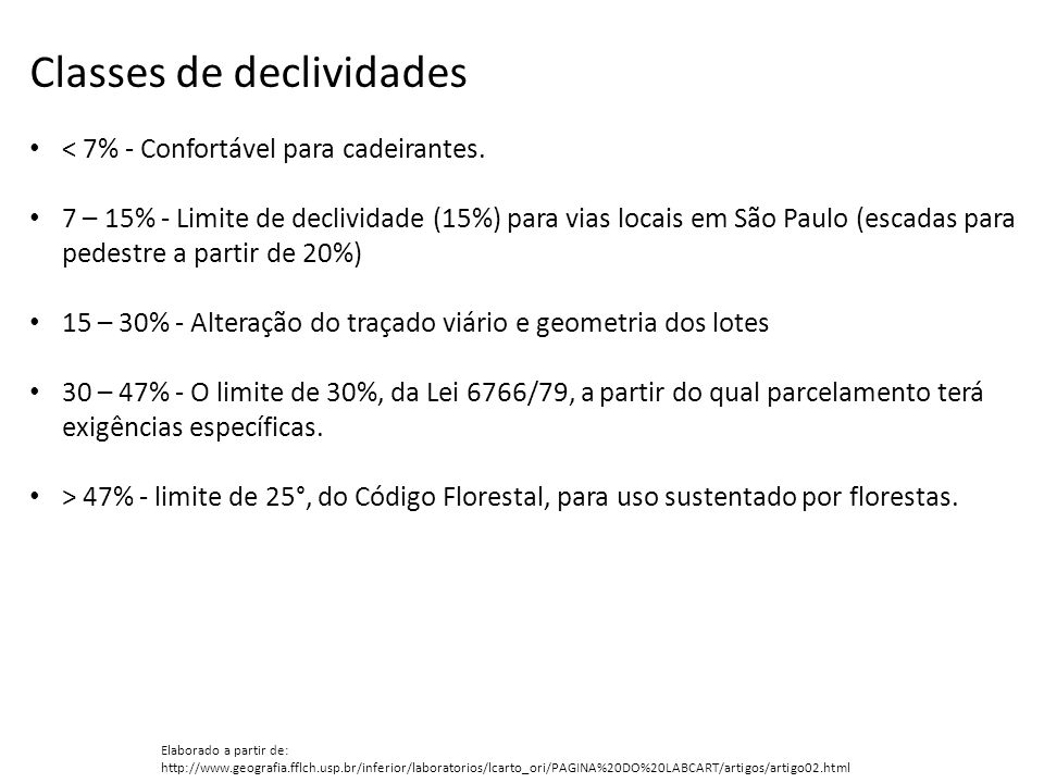 Classes de declividades