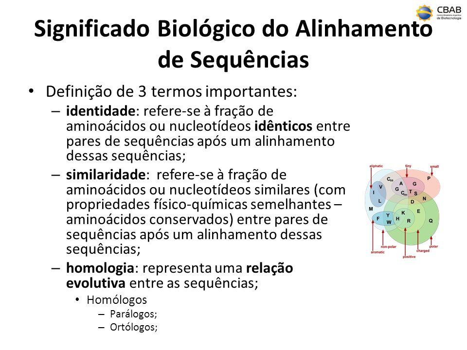 Significado Biológico do Alinhamento de Sequências