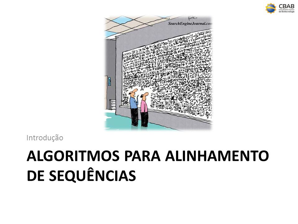 algoritmos para alinhamento de sequências