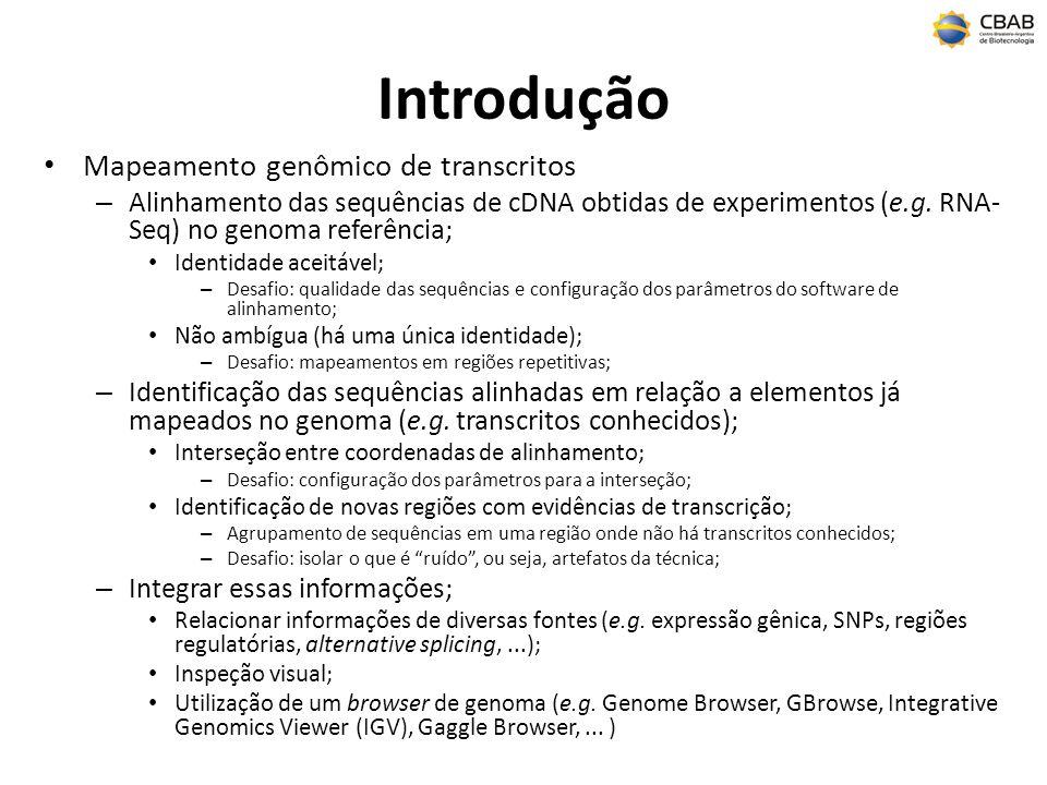 Introdução Mapeamento genômico de transcritos