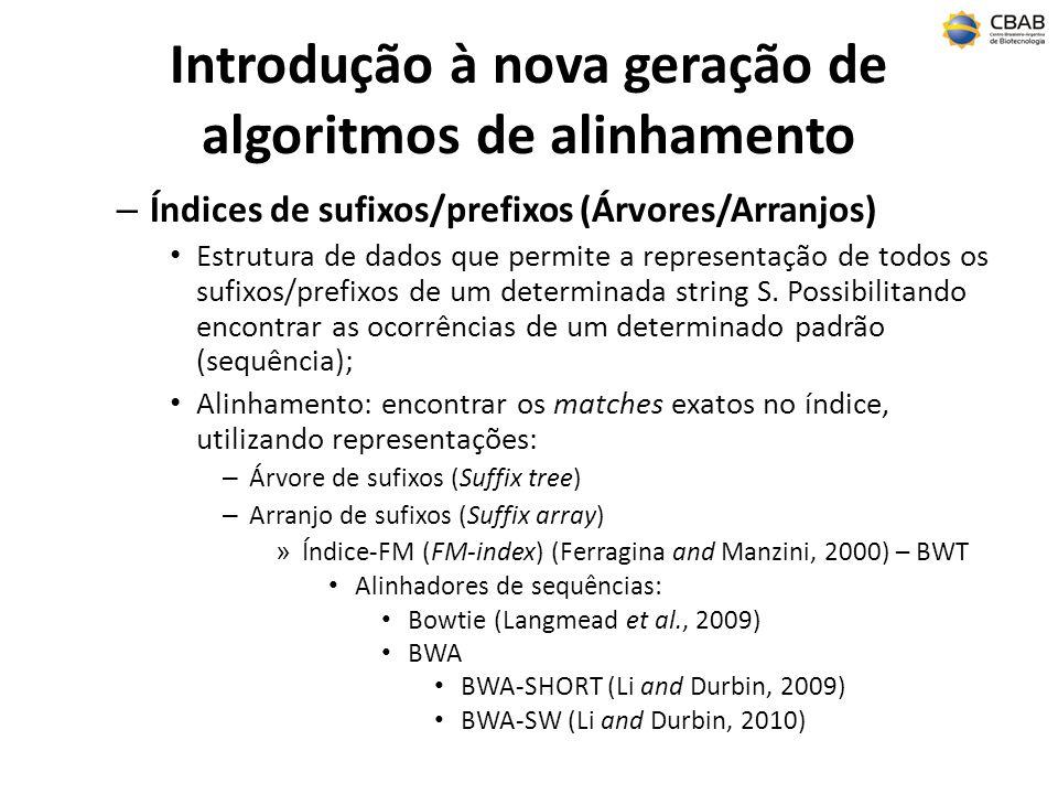 Introdução à nova geração de algoritmos de alinhamento