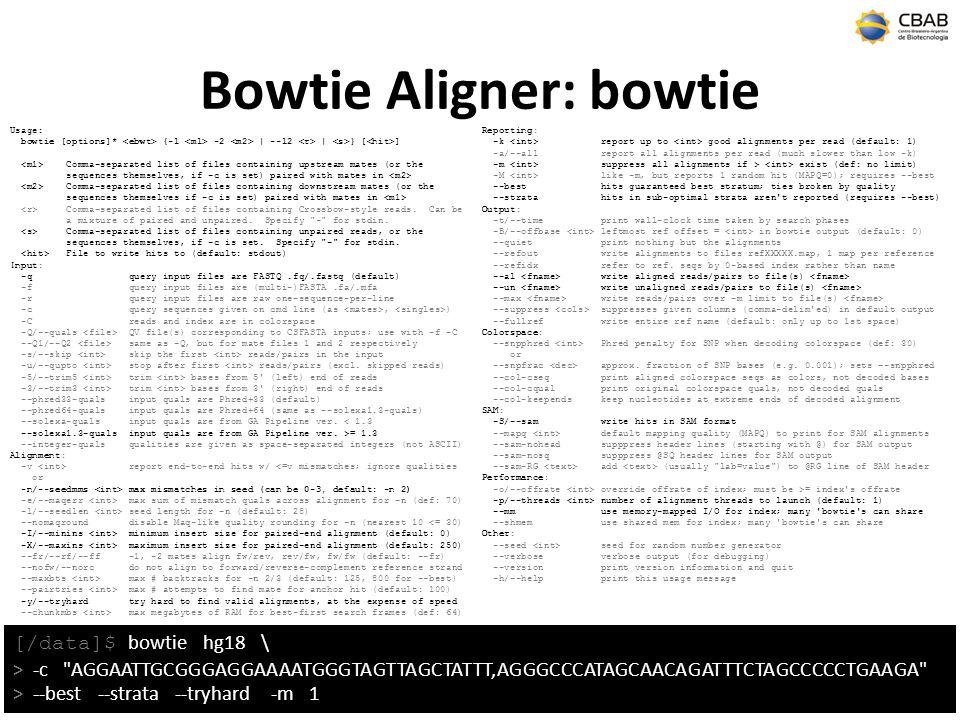 Bowtie Aligner: bowtie