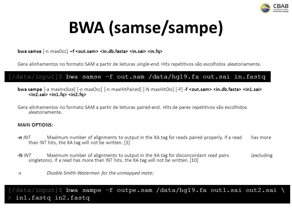 BWA (samse/sampe)