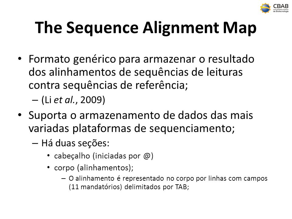 The Sequence Alignment Map