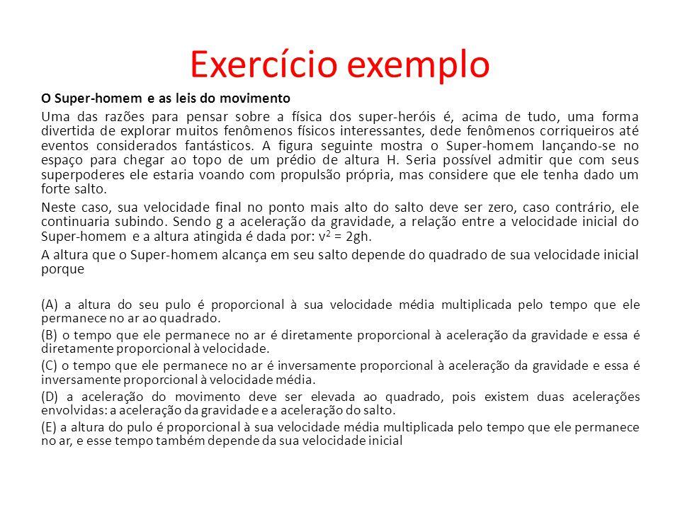 Exercício exemplo O Super-homem e as leis do movimento