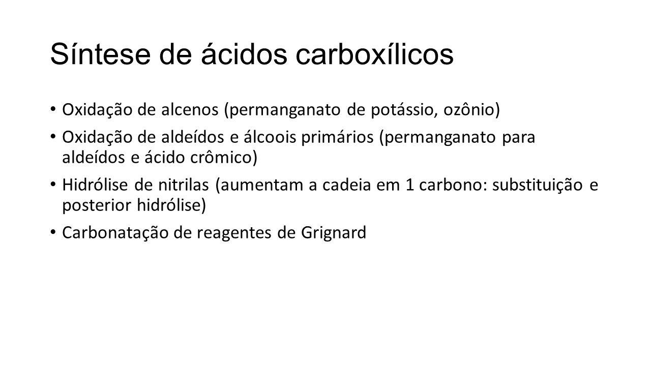 Síntese de ácidos carboxílicos