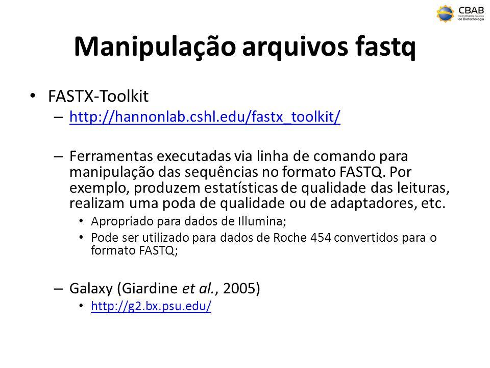 Manipulação arquivos fastq