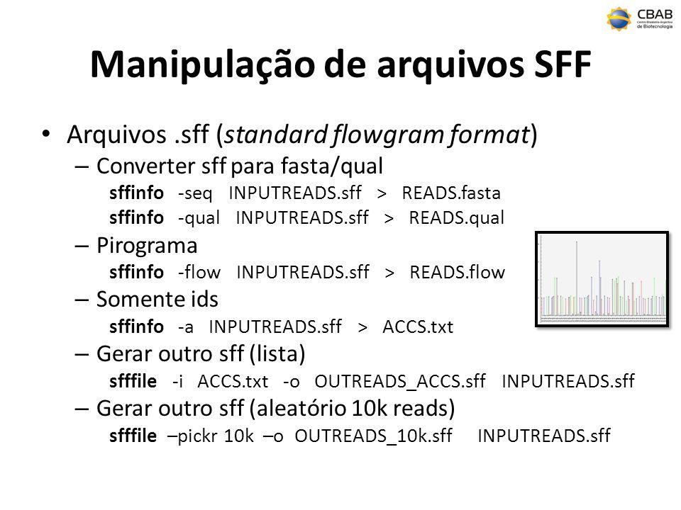 Manipulação de arquivos SFF