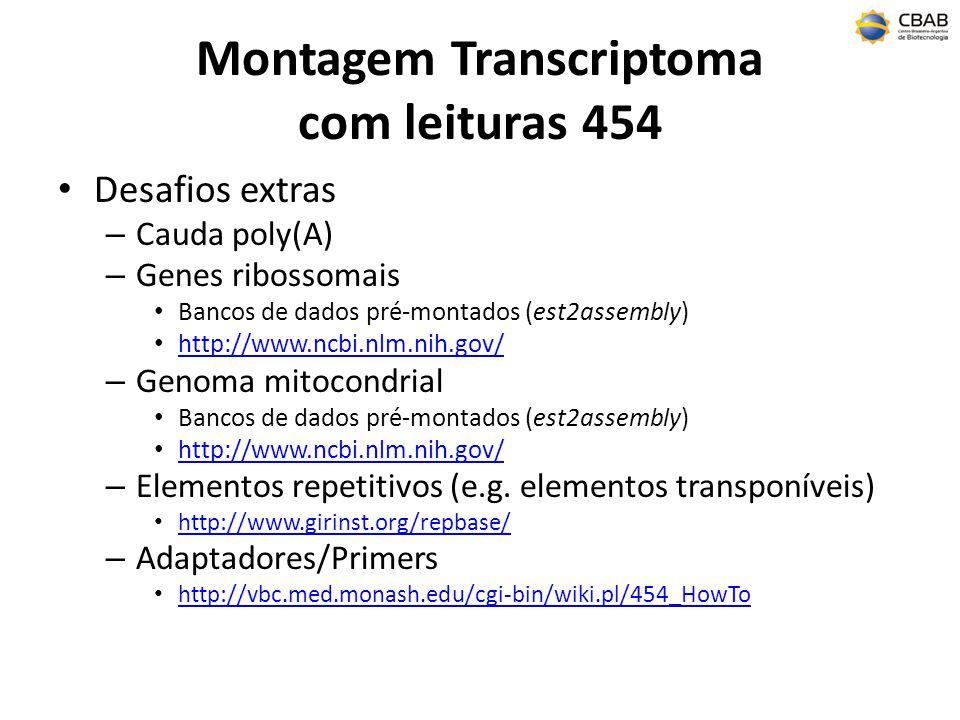 Montagem Transcriptoma com leituras 454