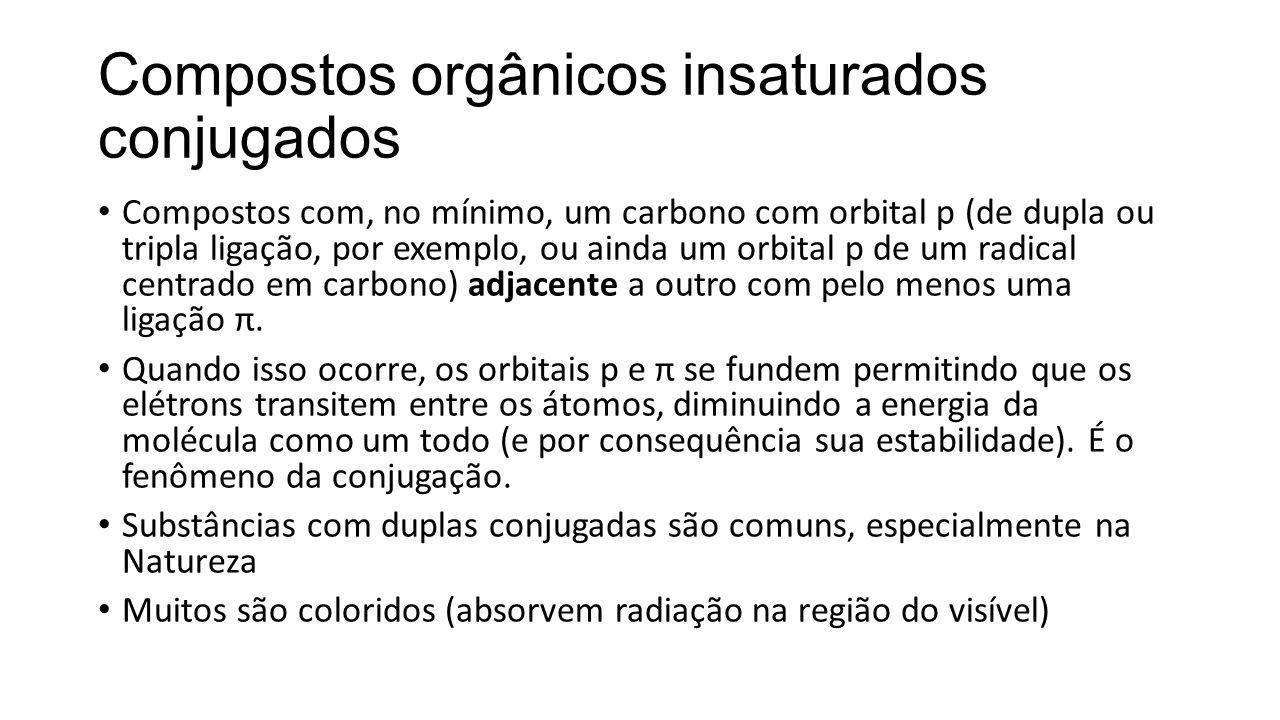 Compostos orgânicos insaturados conjugados