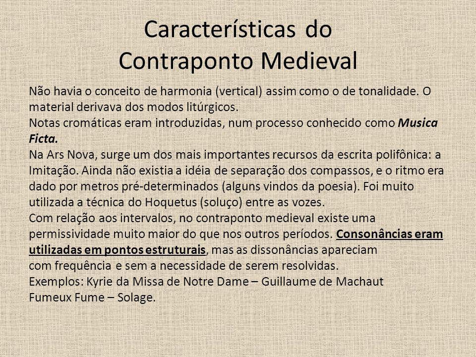 Características do Contraponto Medieval