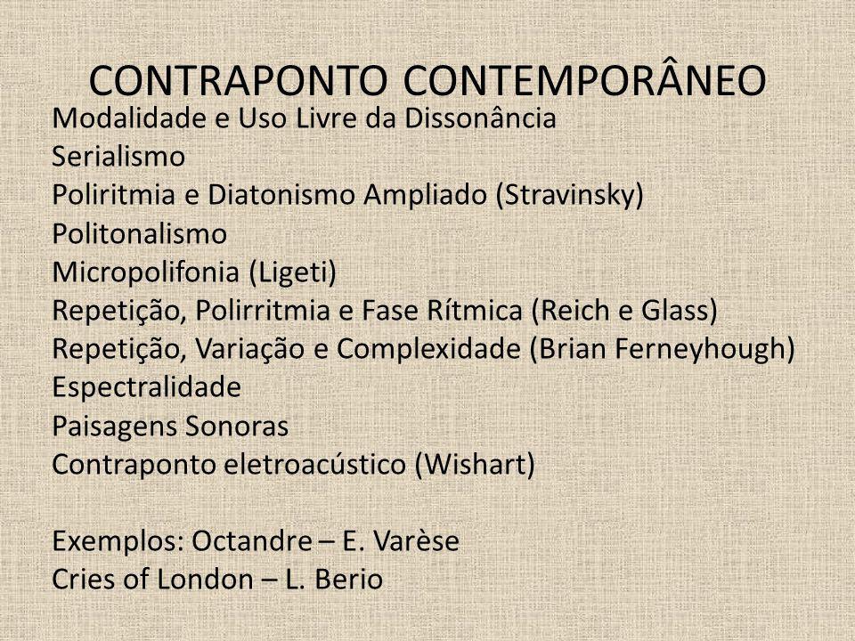CONTRAPONTO CONTEMPORÂNEO