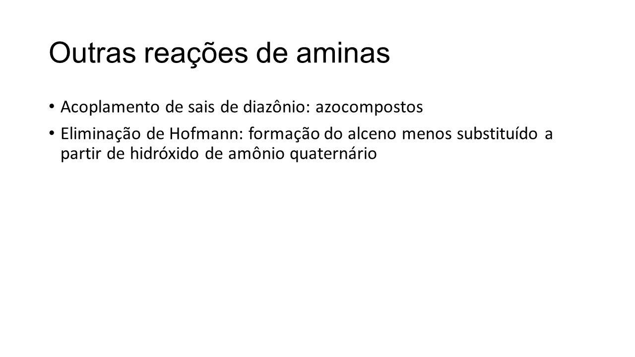 Outras reações de aminas