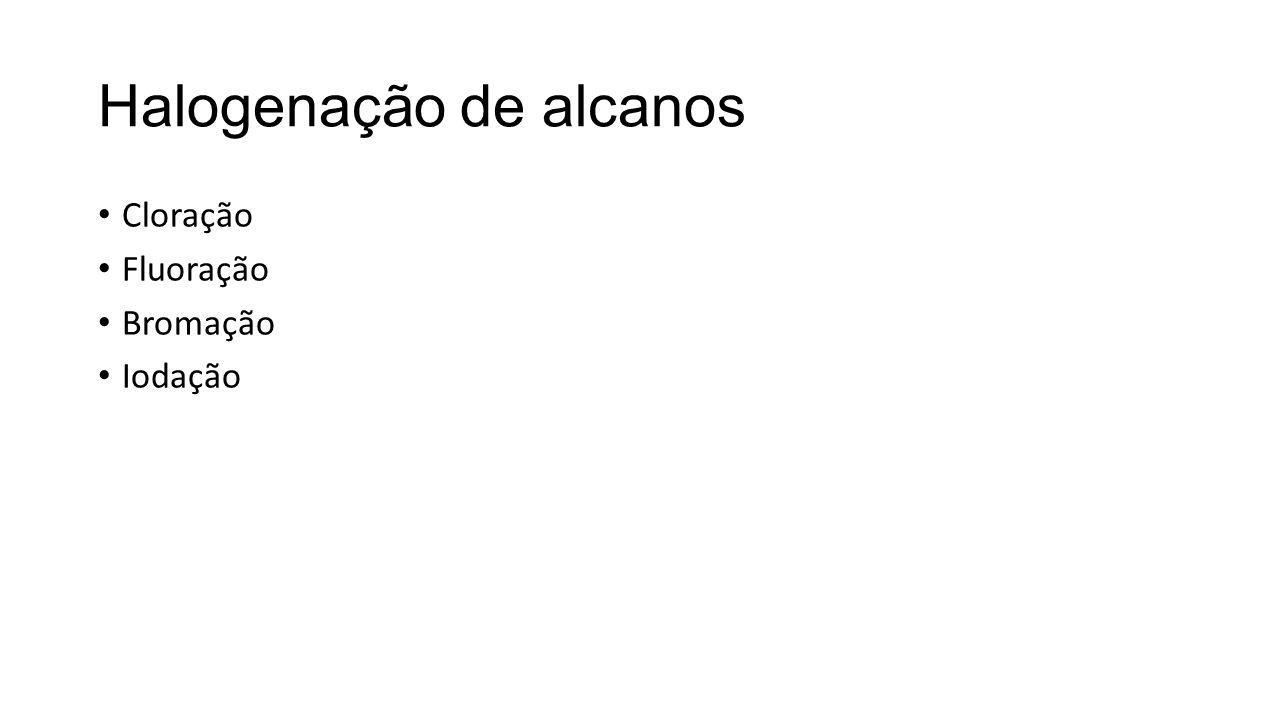 Halogenação de alcanos