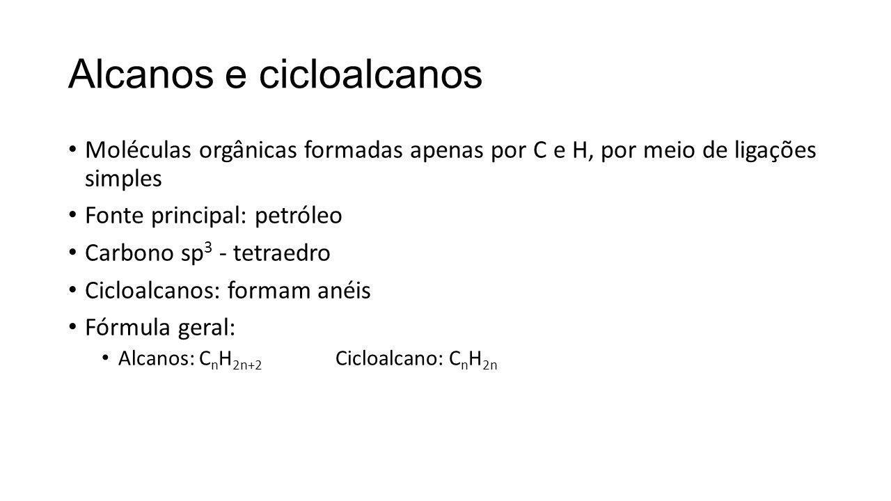 Alcanos e cicloalcanos