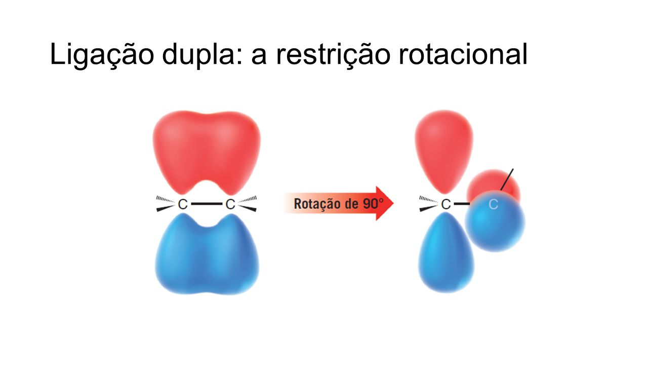 Ligação dupla: a restrição rotacional