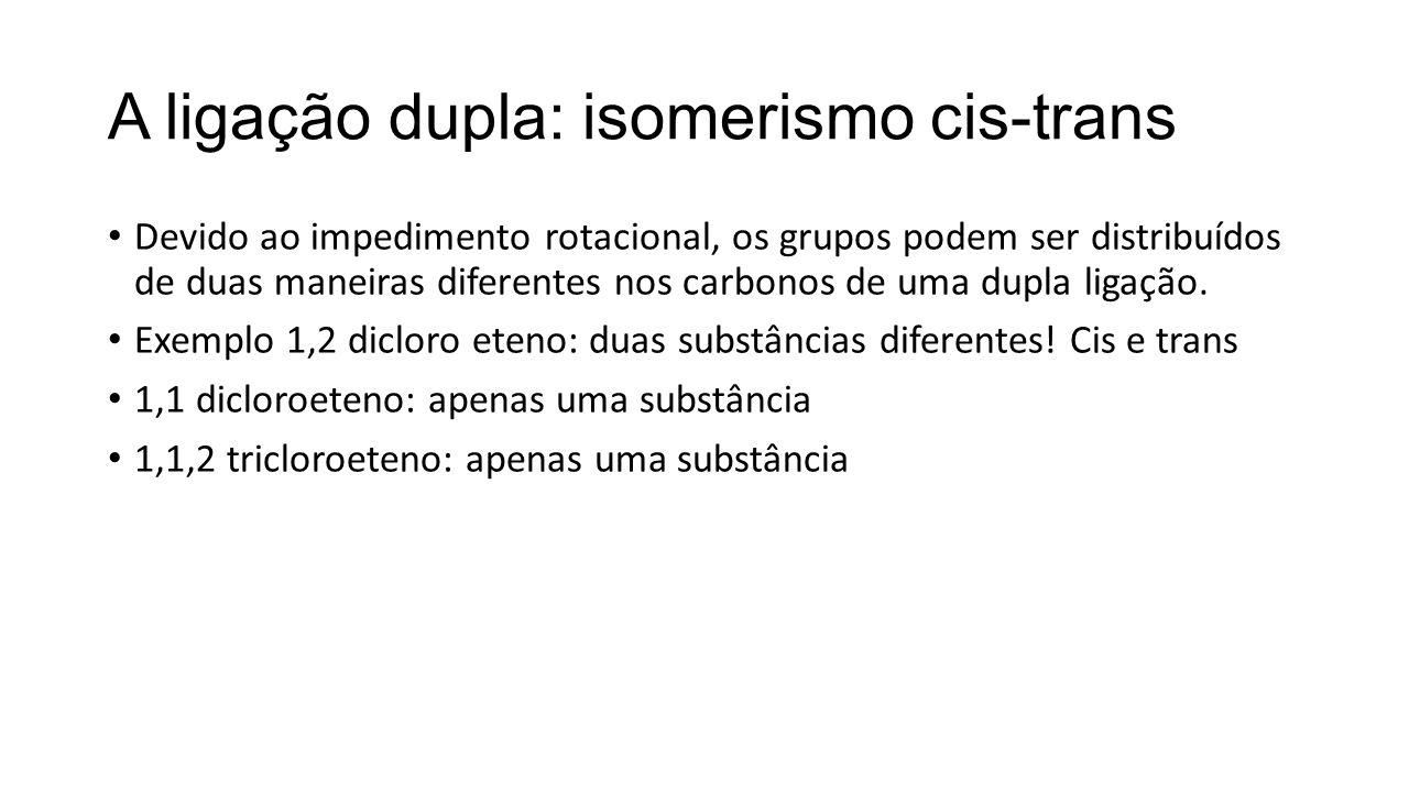 A ligação dupla: isomerismo cis-trans