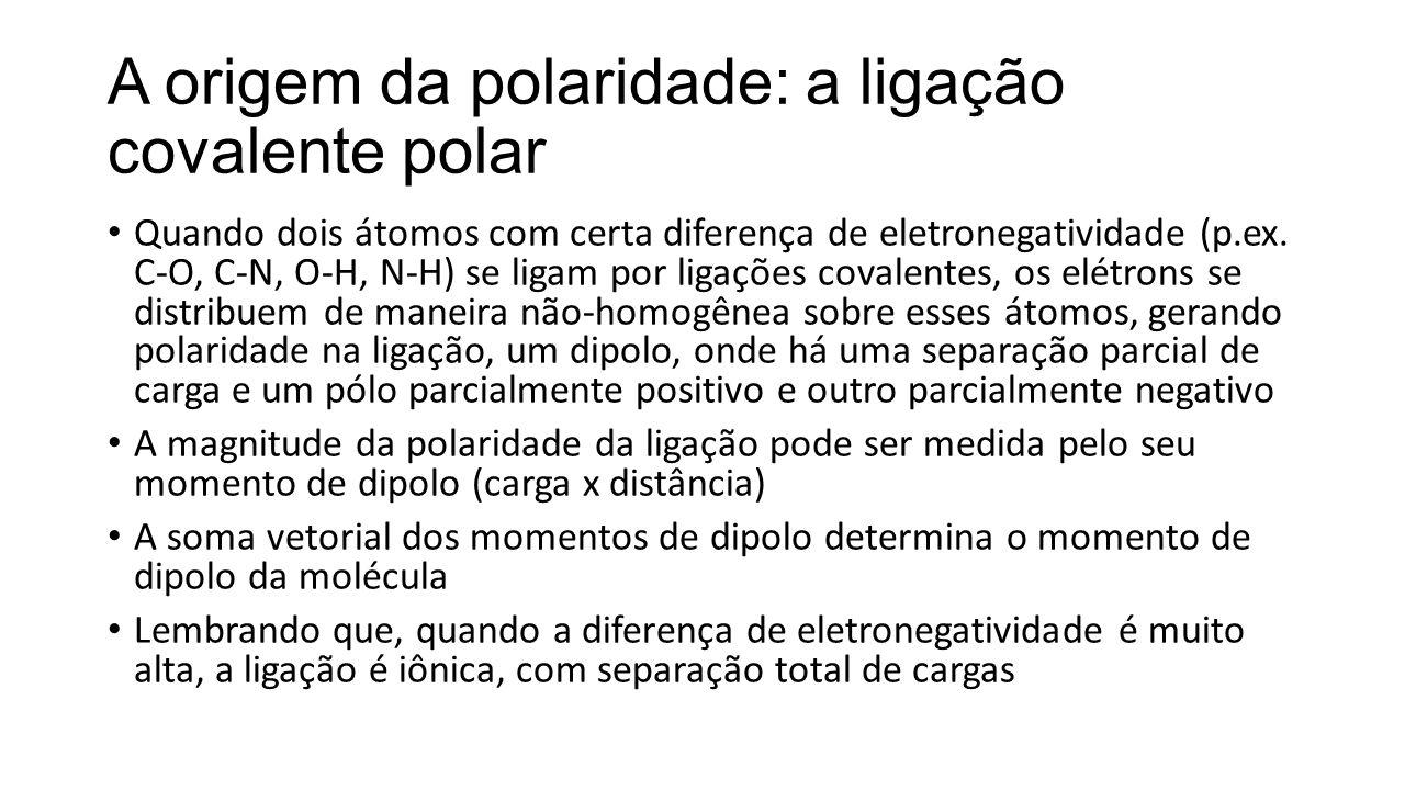 A origem da polaridade: a ligação covalente polar