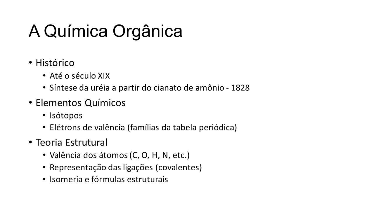 A Química Orgânica Histórico Elementos Químicos Teoria Estrutural