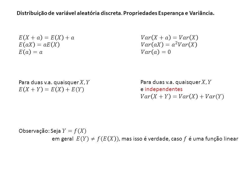 Distribuição de variável aleatória discreta