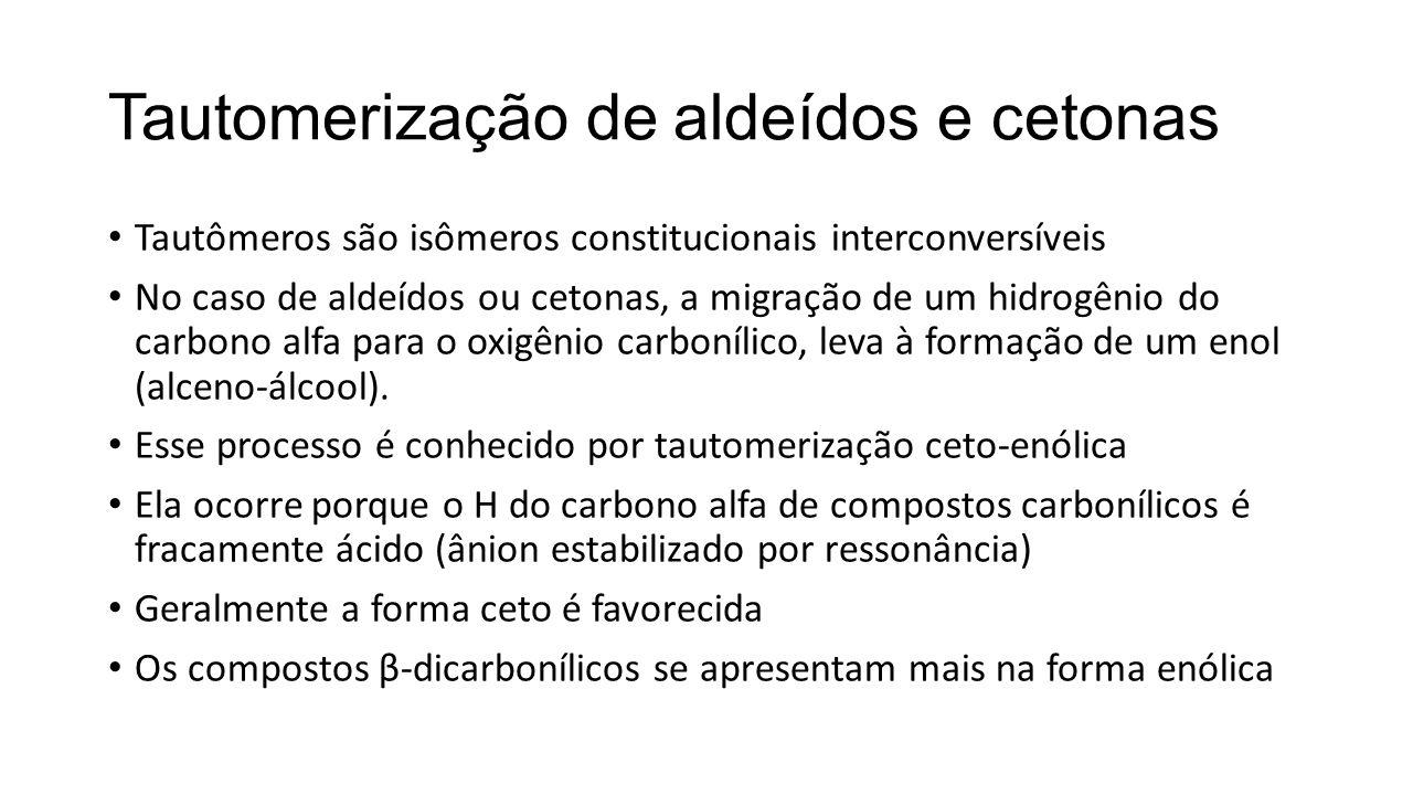 Tautomerização de aldeídos e cetonas