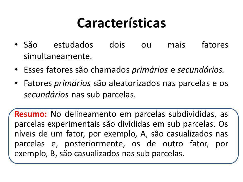 Características São estudados dois ou mais fatores simultaneamente.