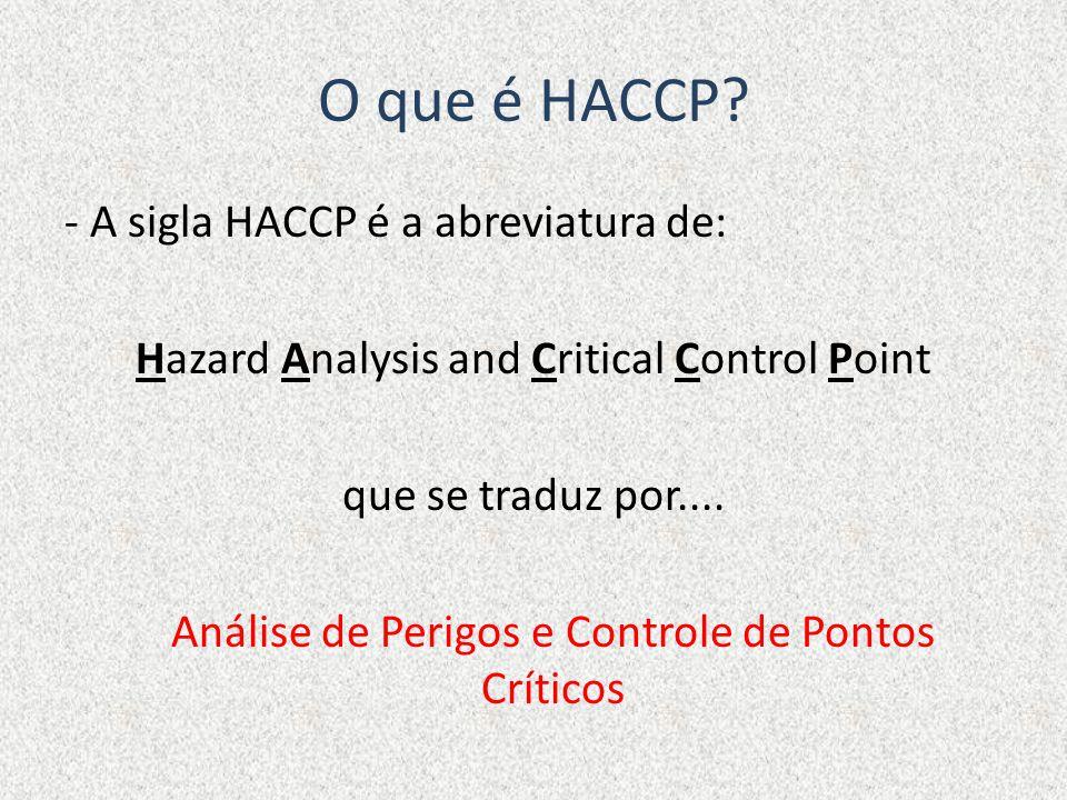 O que é HACCP