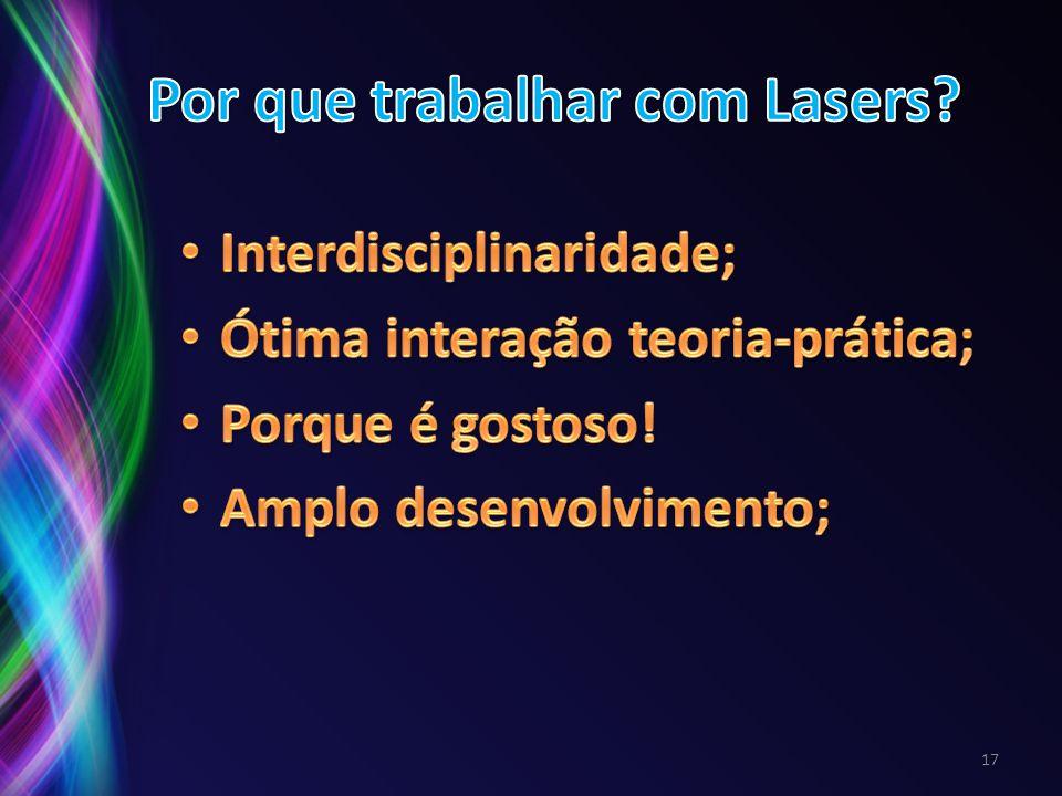 Por que trabalhar com Lasers