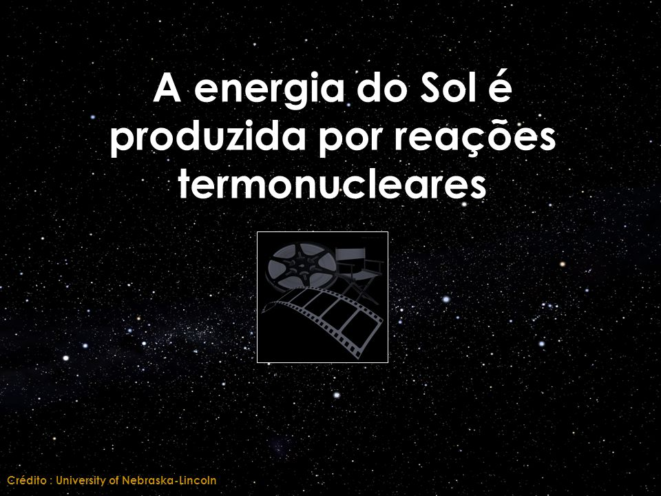 A energia do Sol é produzida por reações termonucleares