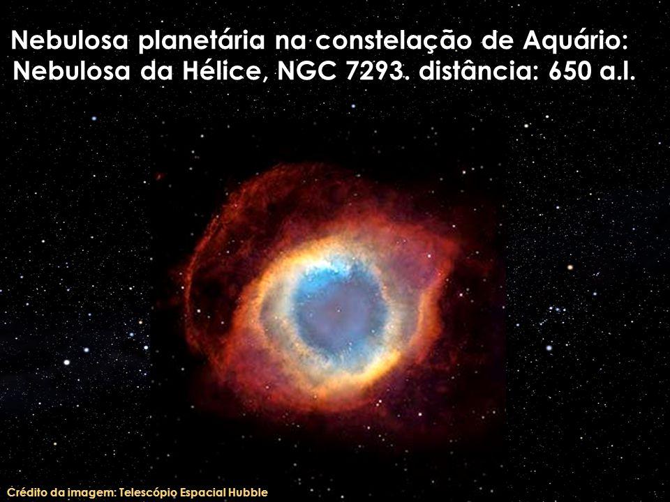 Nebulosa planetária na constelação de Aquário: