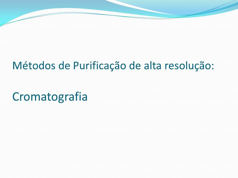 Métodos de Purificação de alta resolução: Cromatografia