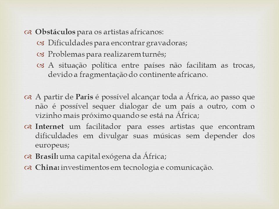 Obstáculos para os artistas africanos: