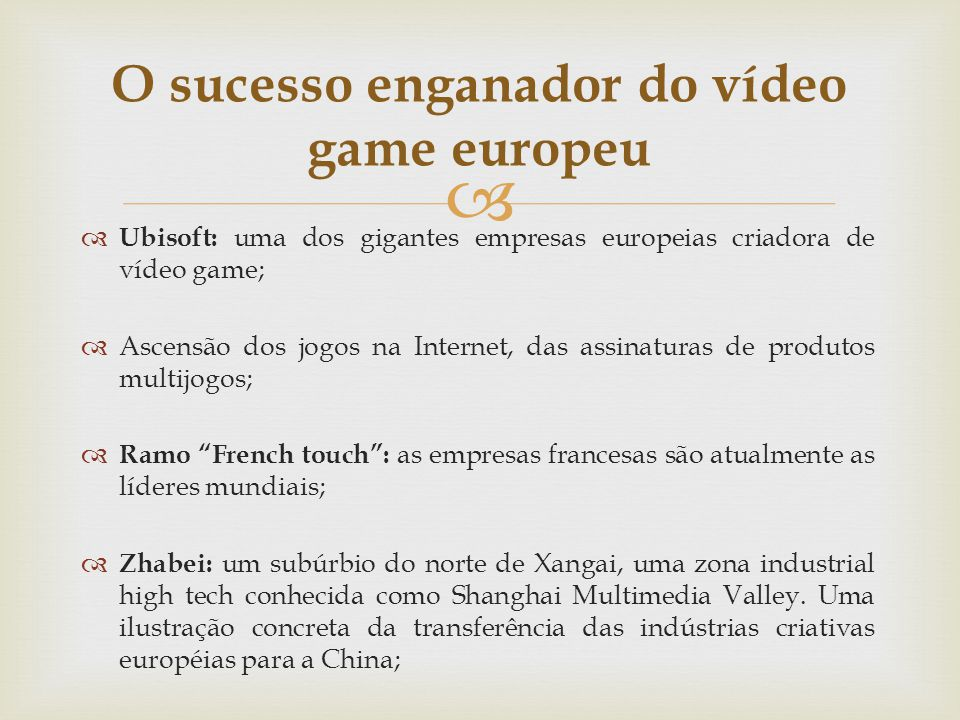 O sucesso enganador do vídeo game europeu