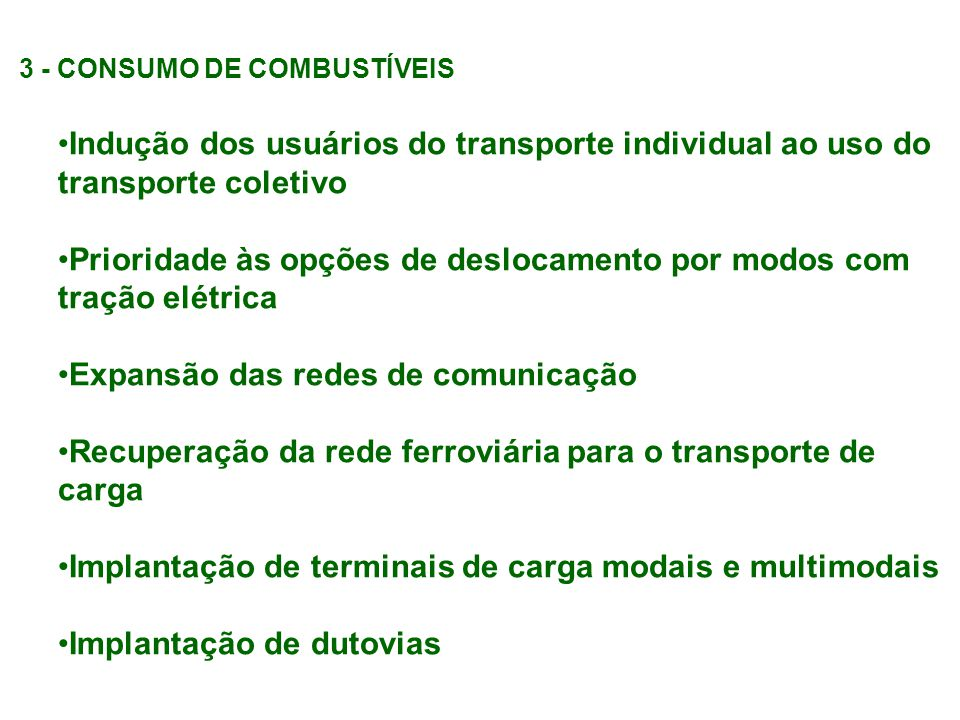 3 - CONSUMO DE COMBUSTÍVEIS