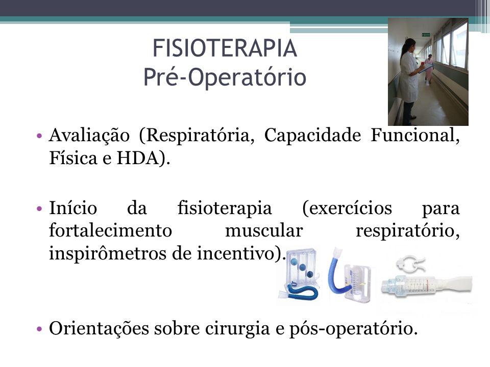 FISIOTERAPIA Pré-Operatório