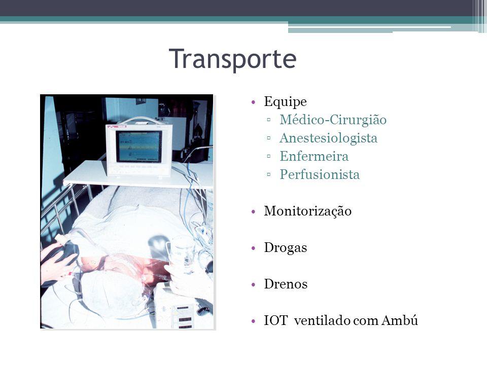 Transporte Equipe Médico-Cirurgião Anestesiologista Enfermeira