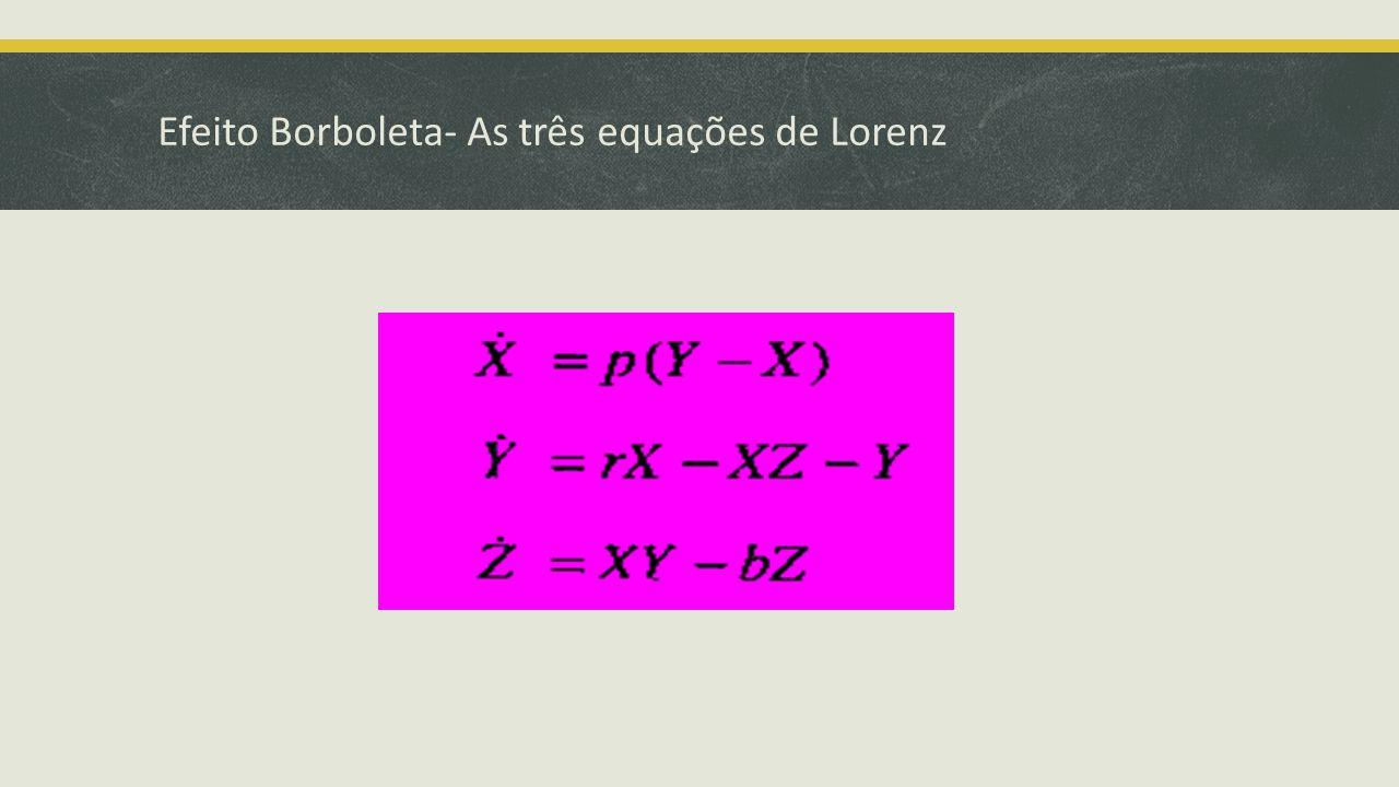 Efeito Borboleta- As três equações de Lorenz