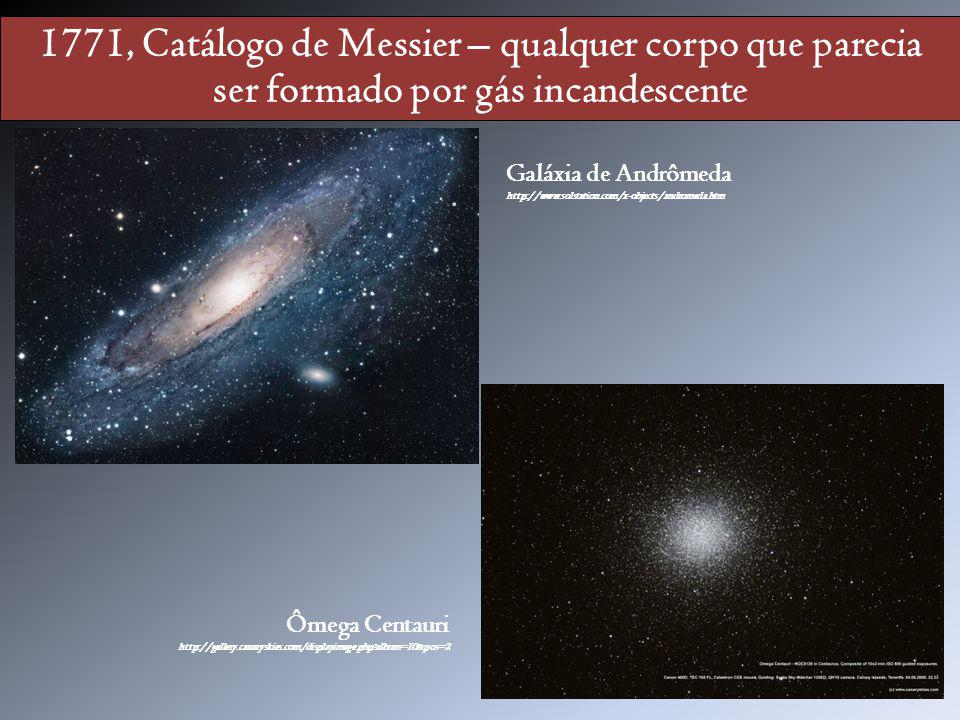 1771, Catálogo de Messier – qualquer corpo que parecia