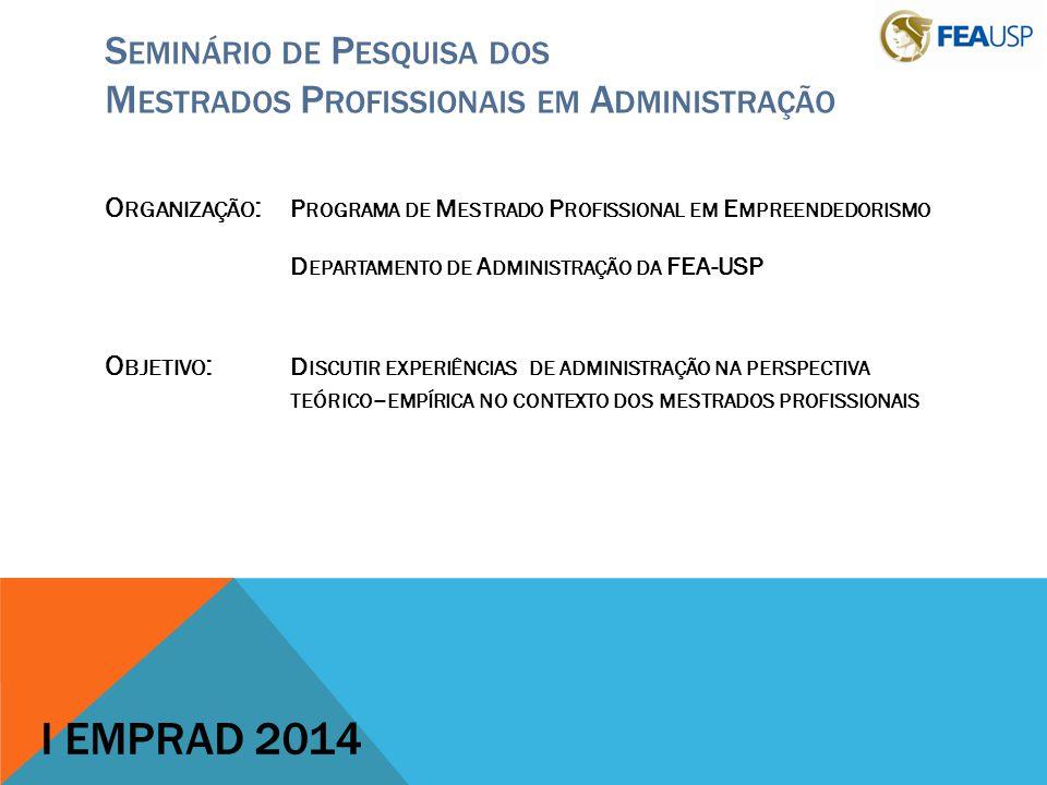 Seminário de Pesquisa dos Mestrados Profissionais em Administração