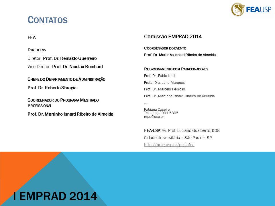 I EMPRAD 2014 Contatos Comissão EMPRAD 2014